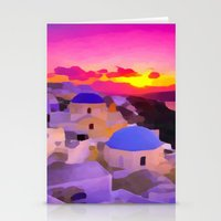 greece Stationery Cards featuring Greece  by Xchange Art Studio