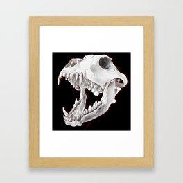 Dog's Teeth Framed Art Print