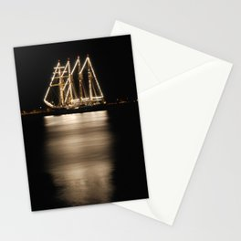 Chilean Navy Ship at Night Stationery Cards