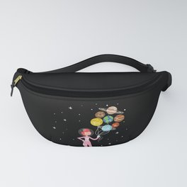 Future Astronaut With Planets design Gift For Girls Fanny Pack