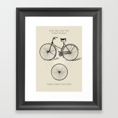 Third Wheel Framed Art Print