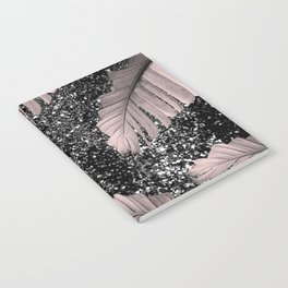 Banana Leaves Glitter Glam #4 #shiny #tropical #decor #art #society6 Notebook