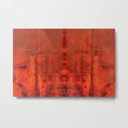 Industrial Rust Abstract Metal Print