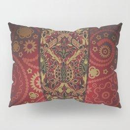 Golden Luxury Paisley on Red Wine Gradient Pillow Sham