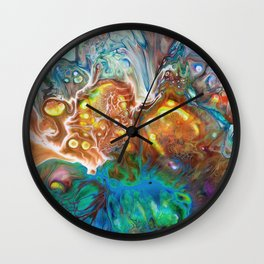Abstract Crossfire Wall Clock