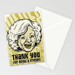 Thank You For Being a Friend - Rose Stationery Cards