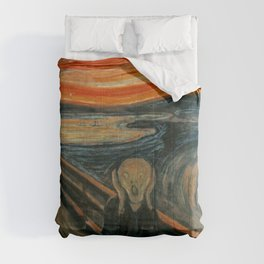 The Scream by Edvard Munch, circa 1893 Comforters