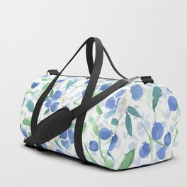 Watercolor Blueberries Duffle Bag