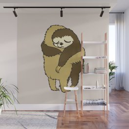 Sloth Hugs Wall Mural