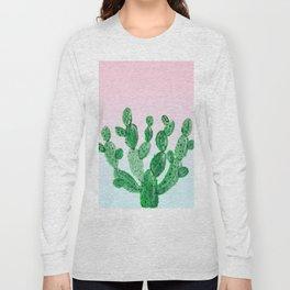 Cacti rose & green Long Sleeve T-shirt