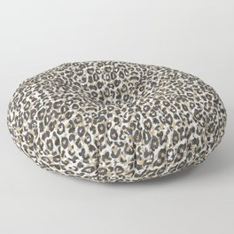 Elegant gold leopard animal print pattern Floor Pillow