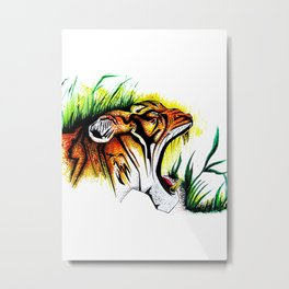 Tiger In The Wild Metal Print