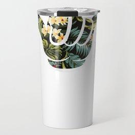 Shaka Good Vibes Funny Brah Hang Loose Aloha Floral T-shirt Travel Mug