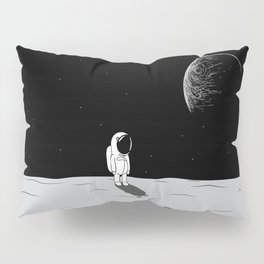 Walking Astronaut on Planet Pillow Sham