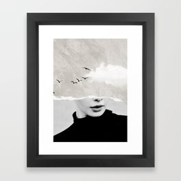 minimal collage /silence Framed Art Print