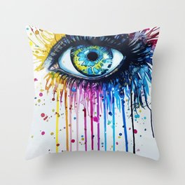 Color eyes Throw Pillow