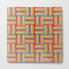 striped cubes weave Metal Print