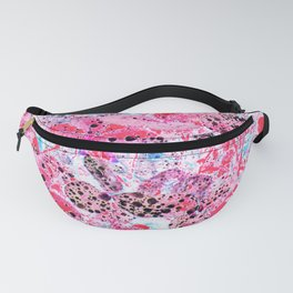 Clovers, Garden, With Rain, Droplets, Red, Fanny Pack