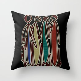 Councl Meeting Tribal Elders Throw Pillow