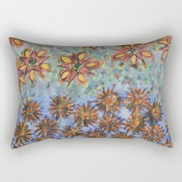 Asters and Paradise Flowers Rectangular Pillow