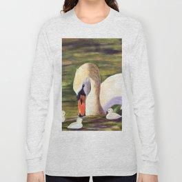 Calm of swan | Le calme du cygne Long Sleeve T-shirt