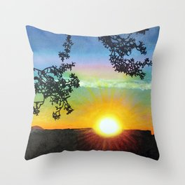 Sunset over the Grand Canyon Throw Pillow