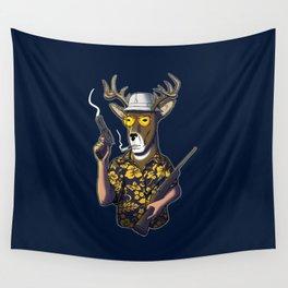 Deer Hunter Wall Tapestry