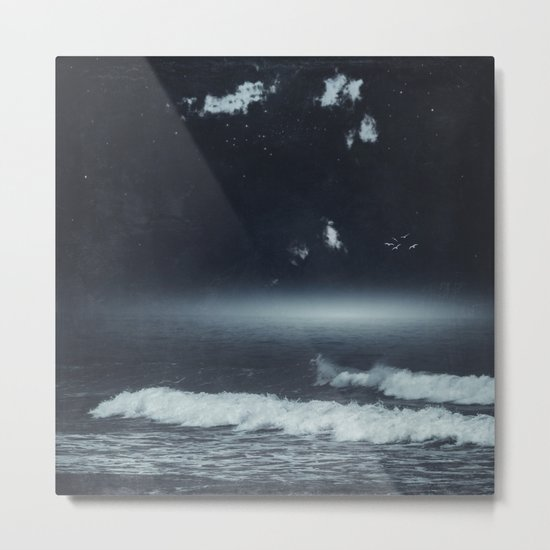 Horizon Glow Metal Print