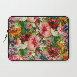 Colorful Floral Pattern   Je t'aime encore Laptop Sleeve