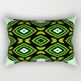 Organized Chaos Goes Green Rectangular Pillow