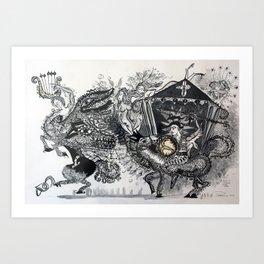A SEDUÇÃO DO CENTAURUS CONTRA JORGE Art Print
