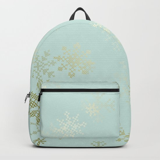 Gold Snowflakes Backpack