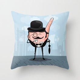 Sir Pinky Throw Pillow