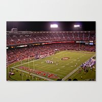 49ers Canvas Prints featuring Candlestick Park 49ers by Kobibryant