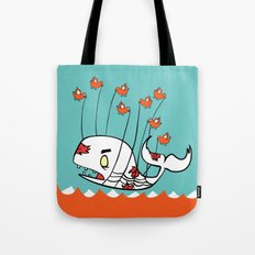 Zombie Whale Tote Bag