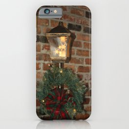 Christmas Lamp Post iPhone Case