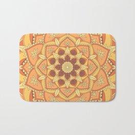 Yoga Henna buddha mandala pattern Bath Mat