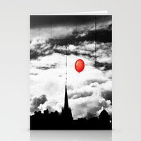 gotham Stationery Cards featuring Gotham city by Anna Andretta