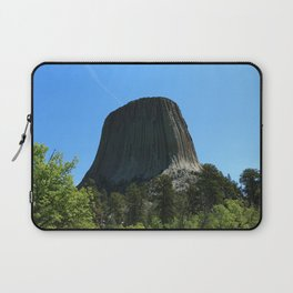 Devils Tower Rising Into The Sky Laptop Sleeve