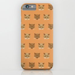 Kellie's Kitties. Kitty Wallpaper Pattern for the Crazy Cat Lady in your Life! iPhone Case