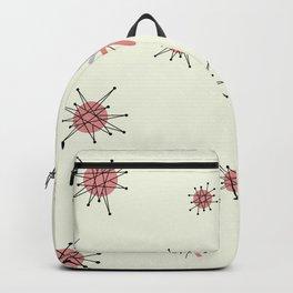 Mid Century Atomic Starburst Pink Pattern Backpack