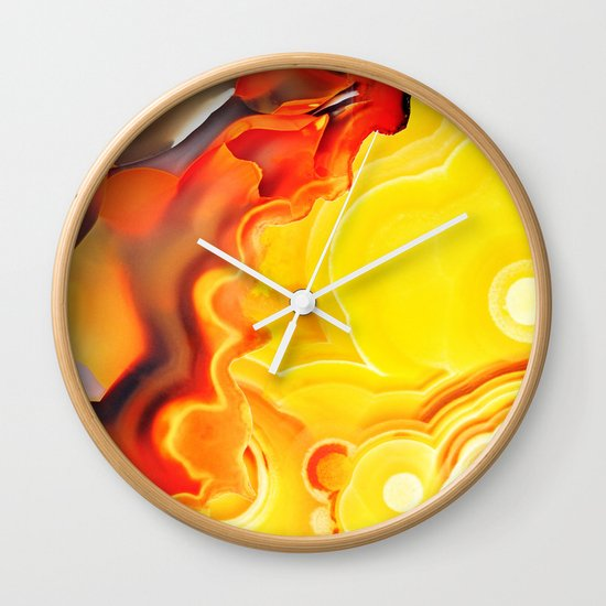 Earth's Fantasy, from the Lithosphere emerges Beauty - Agate Wall Clock