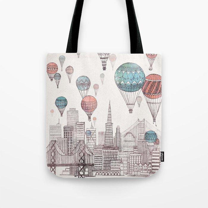 Voyages Over San Francisco Tote Bag