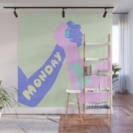 ME VS MONDAY Wall Mural