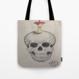 Skull and Apple Tote Bag