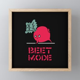 BEET MODE Framed Mini Art Print