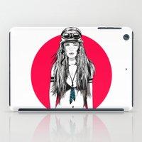 moto iPad Cases featuring Moto Girl I by Mónica Carrero