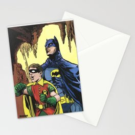 A Tribute to  Adam West & Burt Ward by Peter Melonas Stationery Cards