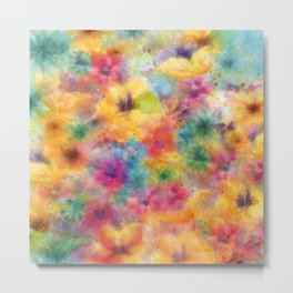 watercolor flowers /Agat/ Metal Print