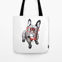 dog Tote Bags featuring Happy Dog by 13 Styx